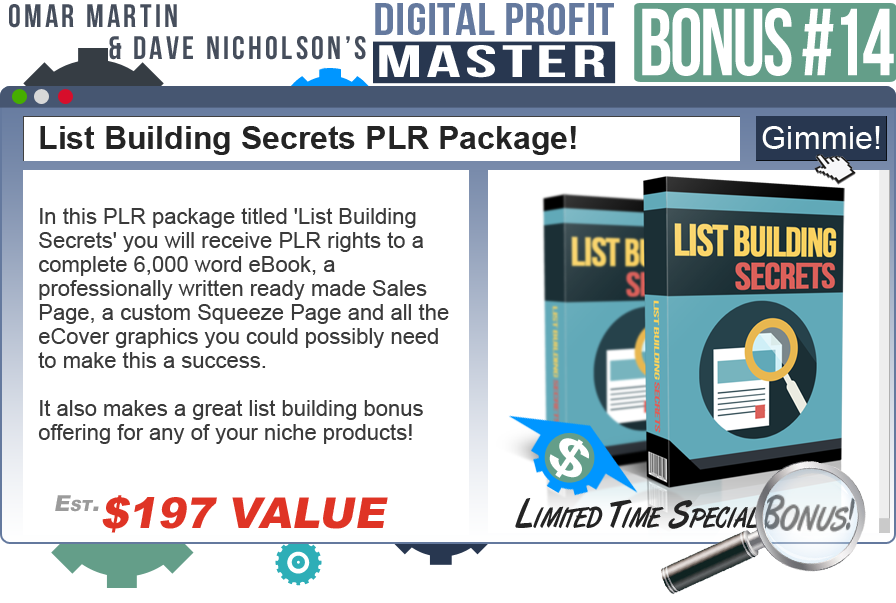 Digital Profit Master Bonus