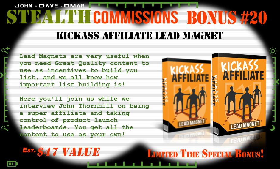 stealth commissions bonus